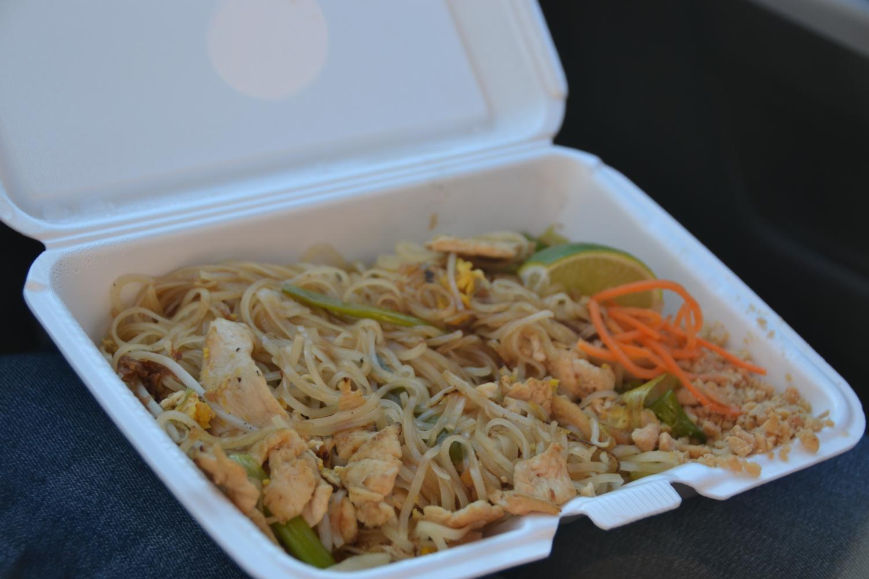 The Chicken Pad Thai from Napa Thai.