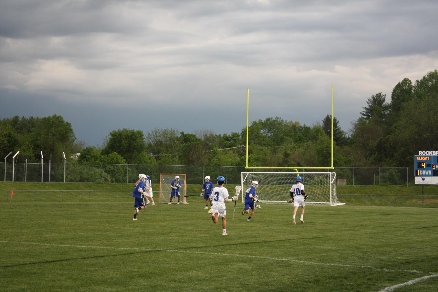 Boys' Lacrosse wins a home game.