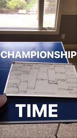 As each round is completed, Senior Josh Wawrzyniak posts a picture of the updated bracket on a whiteboard.