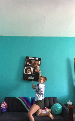 Hope Huger redoing her room.