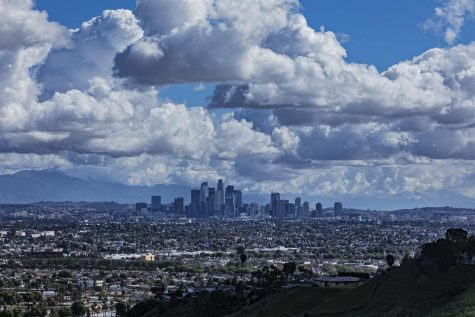 This picture of the Los Angeles skyline shows there is less smog above the city than there was before the Coronavirus lockdowns. Photo provided by NBC News.