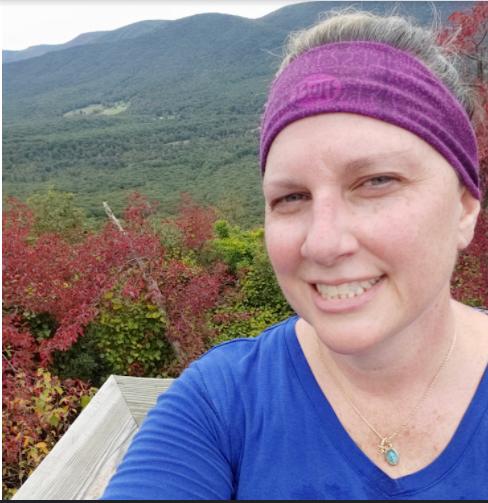 Buchheit enjoys one of her favorite activities: hiking.