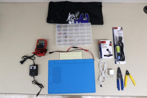 One of the Electronics Home Kits sent home by Mr. Jarvis.
