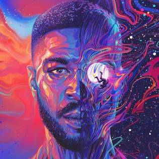 Album cover of Cudi's new album. Designed by Sam Spratt.