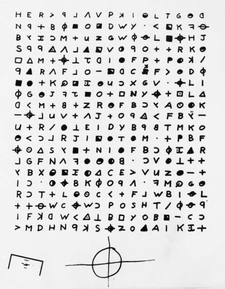The uncoded 340 Cipher that was created by the Zodiac Killer.  Image by Wikimedia Commons https://interestingengineering.com/one-of-the-few-remaining-ciphers-has-been-solved-zodiacs-z-340-cipher