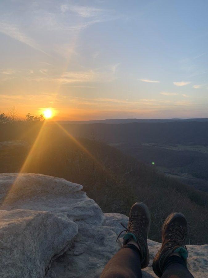 Senior Ashlee Baker enjoys a sunset.