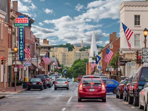 Image from https://s3.amazonaws.com/lexingtonvirginia.com/DowntownLex/_callout/Lexington_MainStreet_Clouds_8x4.jpg