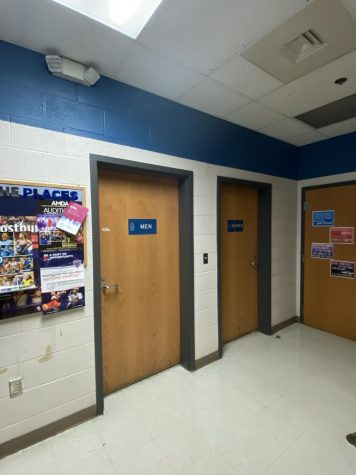 Both single use restrooms are located in the band hallway.
